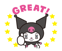 Animated Kuromi sticker #13274554