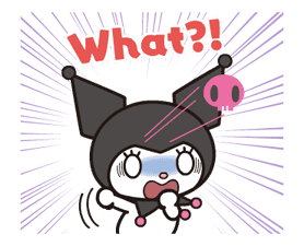 Animated Kuromi sticker #13274556