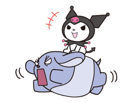 Animated Kuromi sticker #13274558