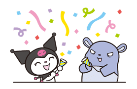 Animated Kuromi sticker #13274560