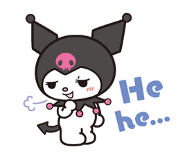 Animated Kuromi sticker #13274562
