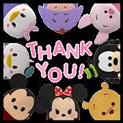 สติ๊กเกอร์ไลน์ Disney Tsum Tsum ป๊อปอัพน่ารัก