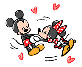 Lovely Mickey and Minnie Pop-Up Stickers sticker #13653450