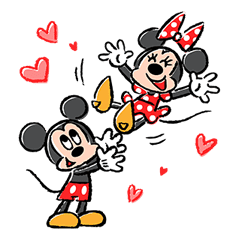 Lovely Mickey and Minnie Pop-Up Stickers sticker #13653456