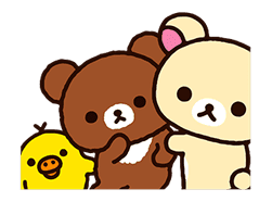 Rilakkuma: Pop-Up Chairoikoguma sticker #13565558