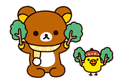 Rilakkuma: Pop-Up Chairoikoguma sticker #13565565