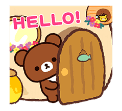 Rilakkuma: Pop-Up Chairoikoguma sticker #13565566