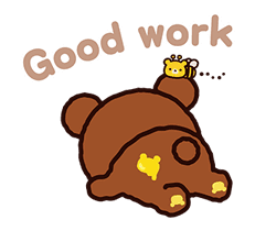 Rilakkuma: Pop-Up Chairoikoguma sticker #13565567