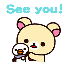 Rilakkuma: Pop-Up Chairoikoguma sticker #13565569