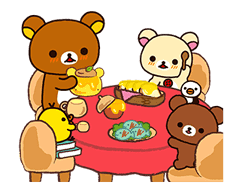 Rilakkuma: Pop-Up Chairoikoguma sticker #13565570