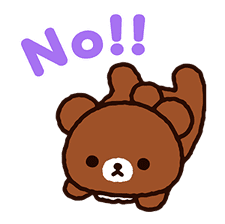 Rilakkuma: Pop-Up Chairoikoguma sticker #13565571