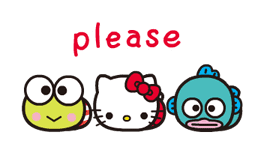 SANRIO CHARACTERS × moni moni ANIMALS sticker #13812866