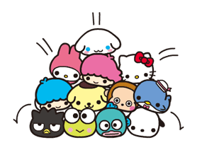 SANRIO CHARACTERS × moni moni ANIMALS sticker #13812877