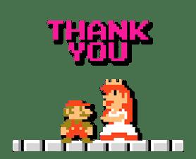 Super Mario Bros. 8-Bit Stickers sticker #13937669