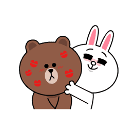 Brown & Cony's Heaps of Hearts! sticker #14585984