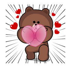 Brown & Cony's Heaps of Hearts! sticker #14585987