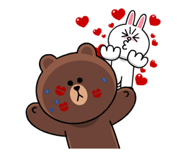 Brown & Cony's Heaps of Hearts! sticker #14585989