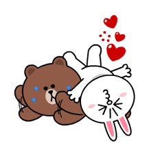 Brown & Cony's Heaps of Hearts! sticker #14585992