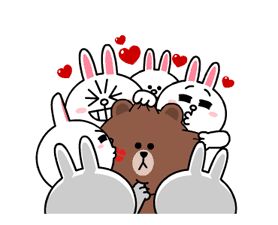 Brown & Cony's Heaps of Hearts! sticker #14585993