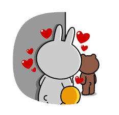 Brown & Cony's Heaps of Hearts! sticker #14586002