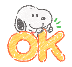 Cute Crayon Snoopy Stickers sticker #14735542