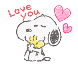 Cute Crayon Snoopy Stickers sticker #14735547