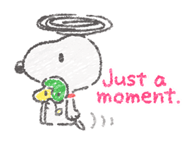 Cute Crayon Snoopy Stickers sticker #14735565