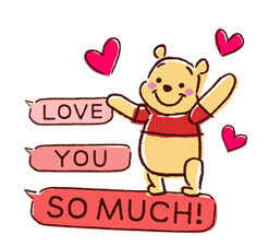Animated Winnie the Pooh Speech Balloons sticker #14904612