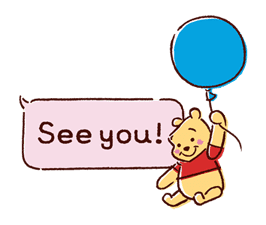 Animated Winnie the Pooh Speech Balloons sticker #14904623