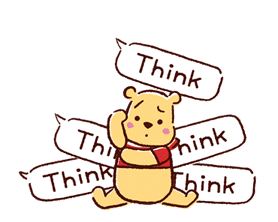 Animated Winnie the Pooh Speech Balloons sticker #14904628