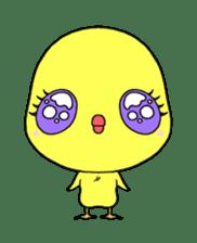 Selfish chick PIYO-CHAN sticker #70982