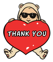 Sunglasses Baby sticker #450010