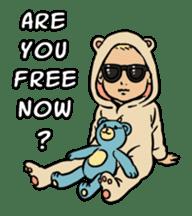 Sunglasses Baby sticker #450027