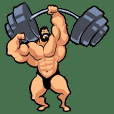Super Muscle Man sticker #799399