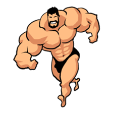 Super Muscle Man sticker #799427