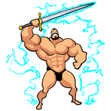 Super Muscle Man sticker #799430