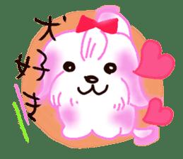 Sora sky blue, Love cerise sticker #874360