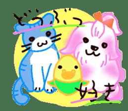 Sora sky blue, Love cerise sticker #874362
