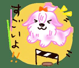 Sora sky blue, Love cerise sticker #874371