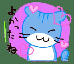 Sora sky blue, Love cerise sticker #874386