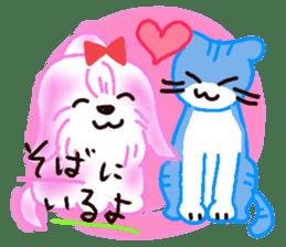 Sora sky blue, Love cerise sticker #874393