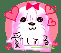Sora sky blue, Love cerise sticker #874398