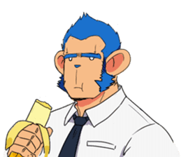 Monkey Muscle Guppo sticker #1372802