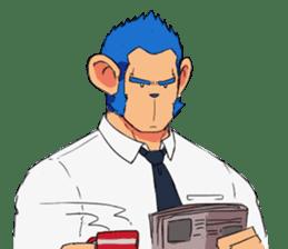 Monkey Muscle Guppo sticker #1372807