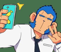 Monkey Muscle Guppo sticker #1372818