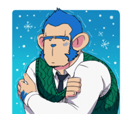 Monkey Muscle Guppo sticker #1372821