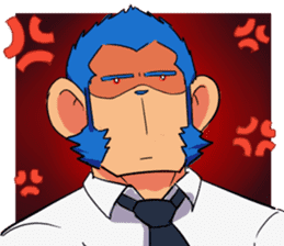 Monkey Muscle Guppo sticker #1372823