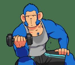Monkey Muscle Guppo sticker #1372824