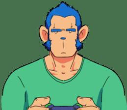 Monkey Muscle Guppo sticker #1372835