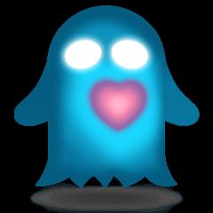 Cute Heart-Glowing Ghost stickers
